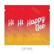 Happy Gee Cooling Pleasure Gel (Bulk Pack/24 pcs) .03 oz Foils