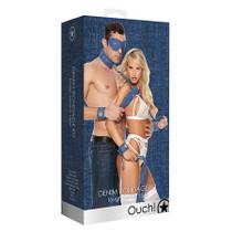 Ouch Denim Bondage Kit Blue