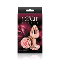 Rear Assets Rose Anal Plug - Small - Pink