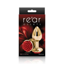 Rear Assets Rose Anal Plug - Small - Red