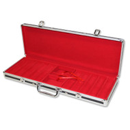 500 Chip Black Poker Chip Case with Red Interior