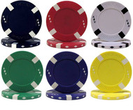 BIG SLICK TEXAS HOLDEM POKER CHIP Sample Set - 6 Different Chips!