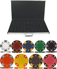 1000PC TRI-COLOR ACE KING 14GM CLAY POKER CHIP SET WITH ALUMINUM CASE