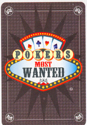 POKER'S MOST WANTED Playing Cards - 1 DECK