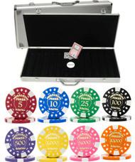 Gold Foil Stamped Tournament 12.5gm 500 Chip Poker Set - Choose Chips!