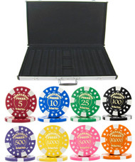 Gold Foil Stamped Tournament 12.5gm 1000 Chip Poker Set - Choose Chips!