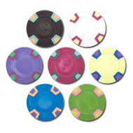 50 Double Trapezoid Blank Claysmith 10gm Clay Poker Chips - Choose Colors!