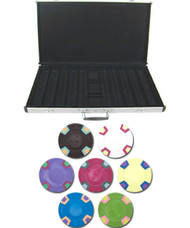 Double Trapezoid Blank 10gm 1000 Chip Clay Poker Set W/aluminunum Case - Choose Chips