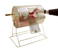Deluxe Medium Size Brass Raffle Drum (Fits up to 5,000 Tickets) - Includes 2000 Tickets!