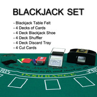 Complete All-in-One Home Style 4-Deck Deluxe Blackjack Set