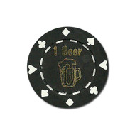 ONE (1) Beer Poker Chip Button Marker Token - Set of 25!