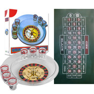 Spins Roulette Drinking Game Set with Layout