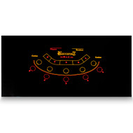 Baccarat Casino Table Black Felt Layout