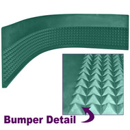 Craps Pyramid Bumper Rubber for Craps Tables - 4 Foot Section