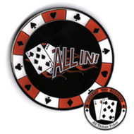 All In Medallion Poker Card Cover Protector