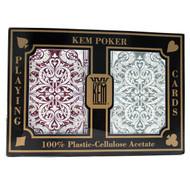 KEM Jacquard 100% Plastic Playing Cards - 2 Deck Set