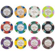 25 Monaco Club 13.5gm Clay Poker Chips - Choose Chips!
