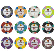 50 Showdown Club & Casino Clay Poker Chips - Choose Chips!