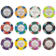 1000 Monaco Club 13.5gm Bulk Clay Poker Chips - Choose Chips!