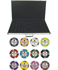 Showdown Club & Casino 13.5gm 1000 Chip Clay Poker Set with Aluminum Case - Choose Chips!