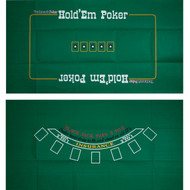 2-Sided Blackjack & Texas Holdem Felt Layout - 2 Games in 1!