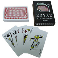 ROYAL PLASTIC WASHABLE PLAYING CARDS - 1 DECK (CHOOSE COLOR)