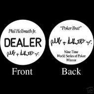 PHIL HELLMUTH JR PROFESSIONAL COLLECTOR'S DEALER BUTTON