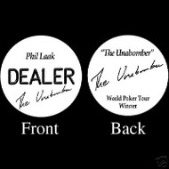 PHIL LAAK PROFESSIONAL COLLECTOR'S DEALER BUTTON