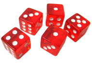 Set of 5 Translucent 19mm Dice - Choose Color!