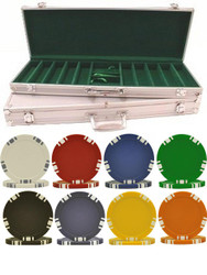 500PC 5-SPOT DUAL COLOR POKER CHIP SET WITH CASE - CHOOSE CHIPS!