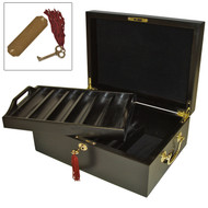 500 CHIPS MAHOGANY WOOD POKER CHIP CASE UPGRADE - ONLY IF APPLICABLE 500 CHIP SET IS PURCHASED