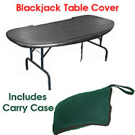 Blackjack TABLE COVER - FITS MOST FOLDING Blackjack Supplies TABLES