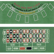 Blackjack with Roulette 2-SIDED FELT LAYOUT