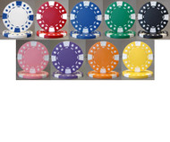 DIAMOND SUITED 12.5gm 500 BULK POKER CHIPS - CHOOSE CHIPS!