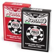 2015 MODIANO WSOP EUROPE 100% Plastic Playing Cards - 2 DECK SET!