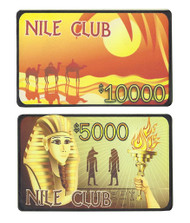 10 NILE CLUB Ceramic Poker Plaques - Choose Type