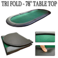 78 INCH Tri-Fold Texas Holdem Poker Table Top