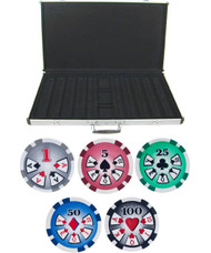 1000PC HIGH ROLLER 11.5GM POKER CHIP SET WITH ALUMINUM CASE