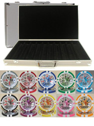 BEN FRANKLIN LASER CLAY 14gm 1000 Chip Poker Set with Aluminum Case