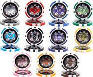 25 CASINO ACES LASER 14g CLAY Poker Chips