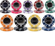 25 CASINO CROWN COIN INLAY 15gm Poker Chips - CHOOSE