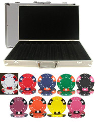 CROWN & DICE 1000 CHIP 14g CLAY POKER SET with Aluminum Case