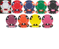 CROWN & DICE 14gm Clay Poker Chip Sample Set - 9 Different Chips!