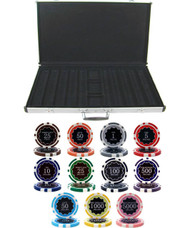 ECLIPSE 14gm CLAY 1000 Chip Poker Set with Aluminum Case