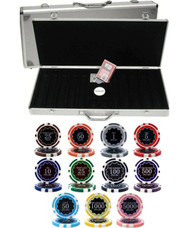 ECLIPSE 14gm CLAY 500 Chip Poker Set with Aluminum Case - Choose