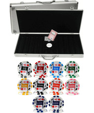 500PC 4 ACES PREMIUM 11.5GM POKER CHIP SET - CHOOSE CHIPS