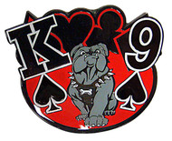 K9 Solid Brass Poker Card Cover