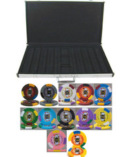 KINGS CASINO 1000 CHIP 14gm CLAY POKER SET with Aluminum Case