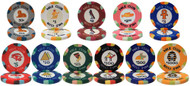 50 NILE CLUB Ceramic Clay 10gm Poker Chips