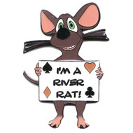 I'M A RIVER RAT Funny Poker Card Cover